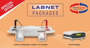 Labnet ENDURO 10cm and 15cm Horizontal Gel Box with Casting Trays from FirstSource Laboratory