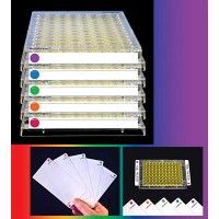 SealPlate ColorTab Sealing Films, Red, Non-Sterile