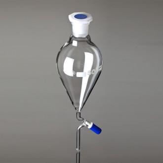 Pear Shape PTFE Key Stopcock Separatory Funnels ISO 4800, 2000ml