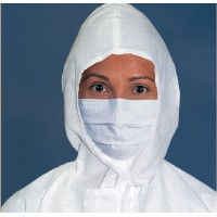 "KIMTECH PURE* M3 Sterile Face Mask With Knitted Earloops 7"" - Pleat Style"