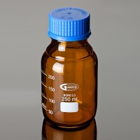 Laboratory Bottles with Amber Glass ISO 4796, 250ml