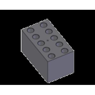 B10-13, Block with 10 sockets of 13 mm diameter, flat bottom