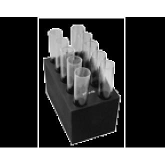 B10-16, Block with 10 sockets of 16 mm diameter, flat bottom
