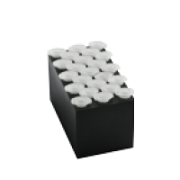 B23-1.5, Block with 23 sockets for 1.5ml tubes, flat bottom