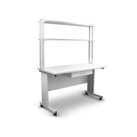 T-4L-P, desk with shelves